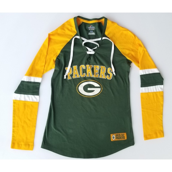 05b4c29e706 Majestic Tops | Womens Green Bay Packers Long Sleeve | Poshmark